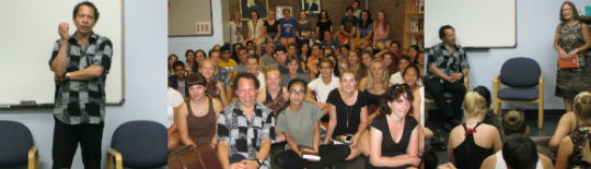Lawrence Hill visiting students