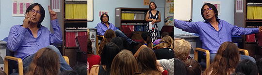 Richard Wagamese visits students