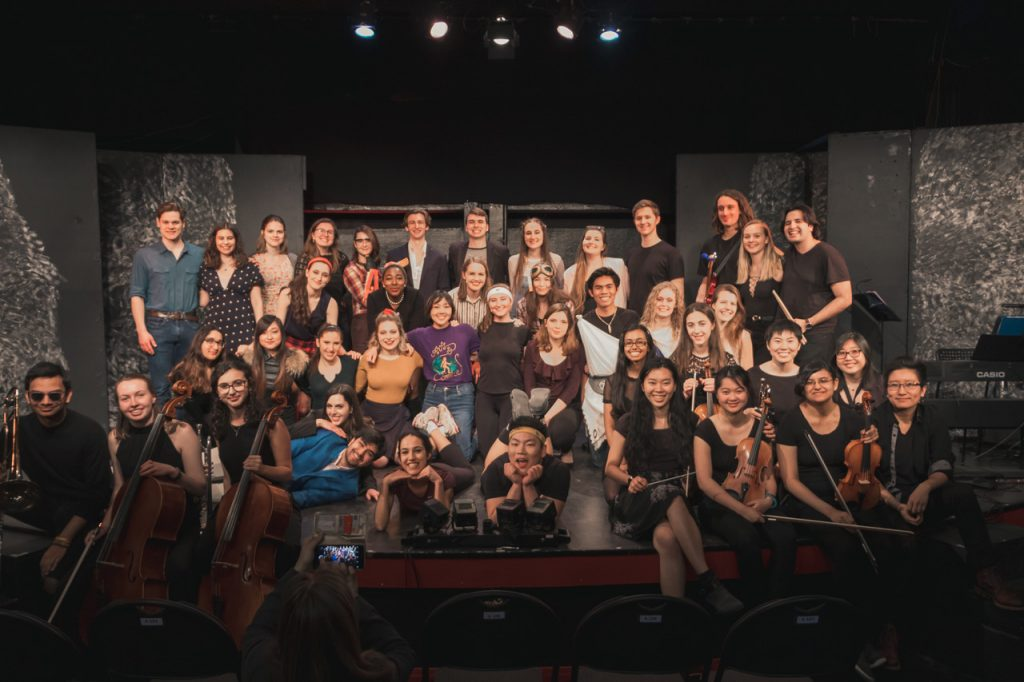 Cast and crew of Artsci musical