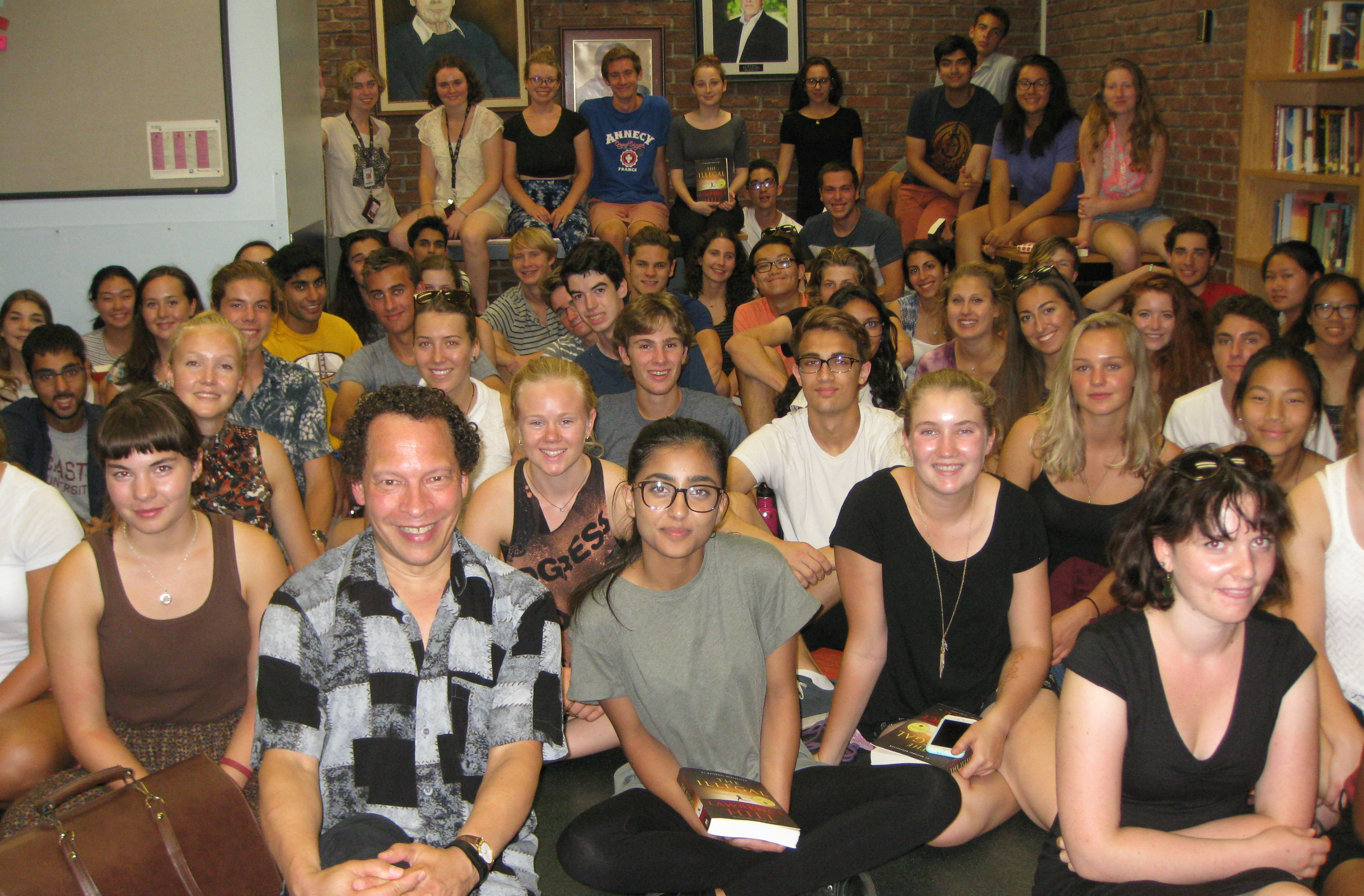 Lawrence Hill visiting the program office
