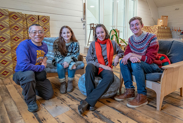 Students on Fogo Island
