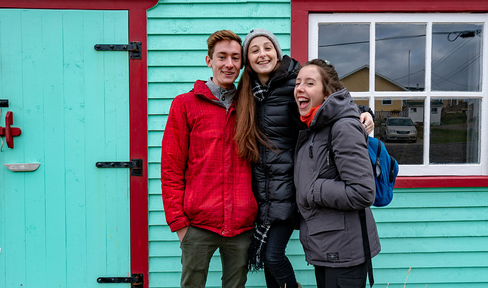Students in Fogo Island