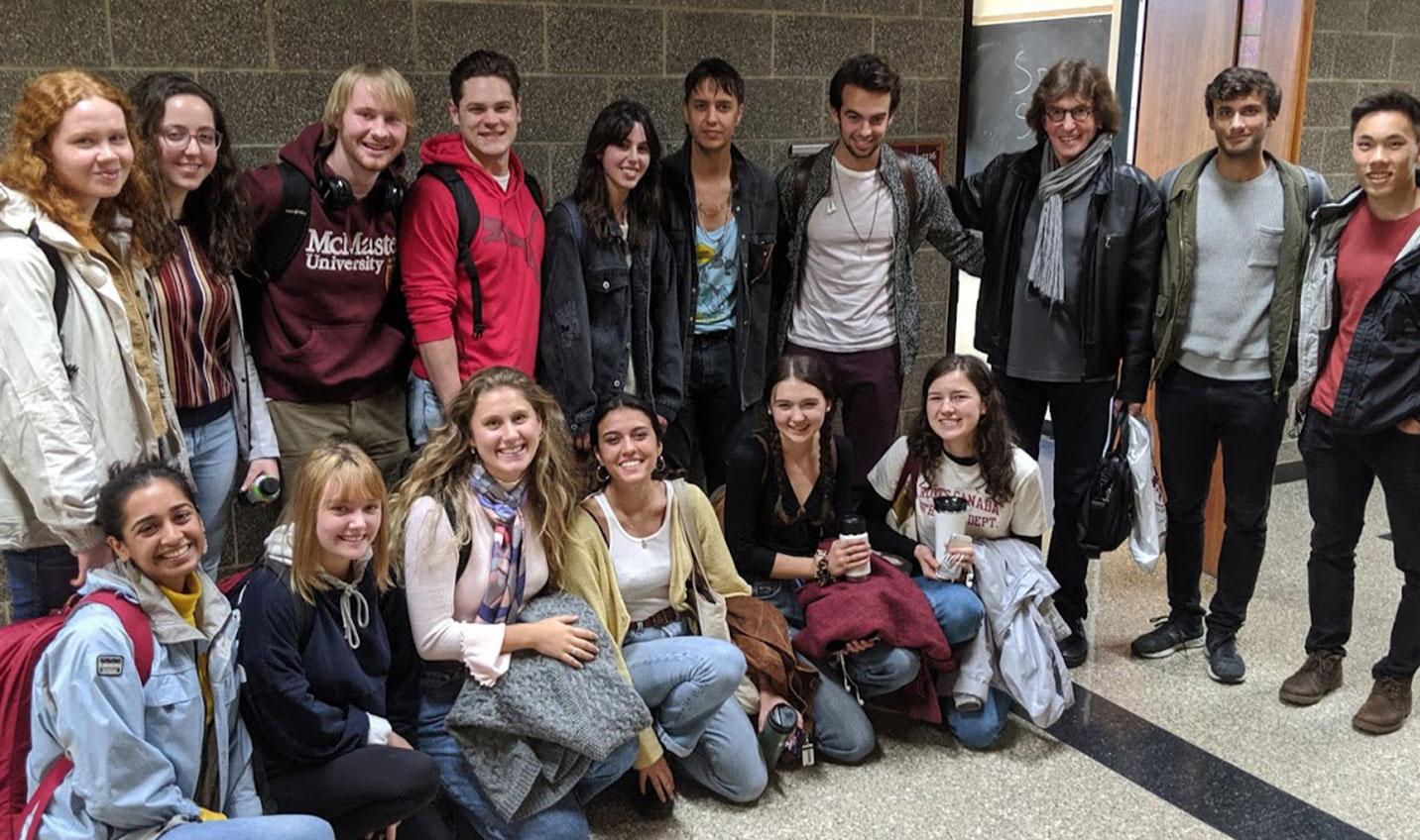 Julian Casablancas with students