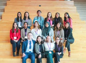 Group of students at the New World of Work Forum